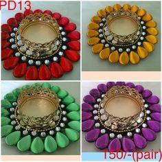 Colourful handmade diyas