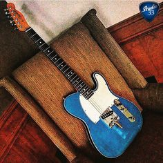 #TeleTuesday! This blue beauty belongs to @markgrundhoefer #Esquire #Telecaster #Studio33Guitar