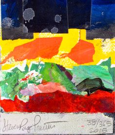 38 of 365 in 2015. 6x6 inch image on 6x7 inch Masonite Board. Mixed Media Collage.