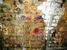 Doves Today: Thematic Photographic - Bricks and mortar remains of original posters