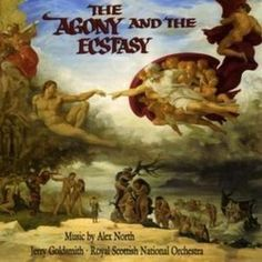 The Agony and the Ecstasy Soundtrack (Alex North) - CD cover