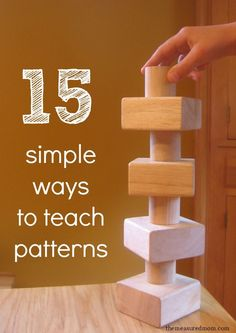 Love the simplicity of these pattern activities for preschoolers.