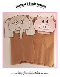 There are surprisingly few Elephant and Piggie crafts/activities to be found. When I searched Pinterest and Google images of a paper bag craft kept coming up. But there was no soft copy template to be found!So I made my own.Enjoy......Banana!