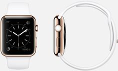 #Apple #Watch Edition  38mm and 42mm Case 18-Carat Rose Gold,  Sapphire Crystal Display, Ceramic Back,  Sport Band White Fluoroelastomer, 18-Carat Rose Gold Pin