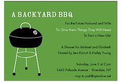 our jack and jill shower backyard bbq shower invitation