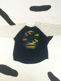 1970s The Who Long Live Rock 79 Madison Square Garden Raglan Baseball Shirt / T shirt / Thin / Soft / Double Sided / Large / XL  / Rock by badatpettingcats on Etsy