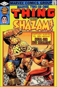 Custom Cover by Super-Team Family: The Lost Issues!: The Thing and Shazam!