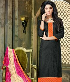 Black for the happy soul.  Come shop at inddus.com for #exclusiveoffers  #fashion #indianfashion #india #dressmaterials #indianClothing #womenswear #women #worldwideshipping #kurtis #sarees #suits #onlineshopping #shoponline #ethnicwear #everydaywear #newcollection #newarrivals #discounts #kurtis
