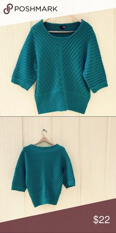 Oversized Teal Sweater Blouse 21' bust 24.5' long 💕💕💕 *thick sweater material* acrylic. a.n.a Tops Blouses