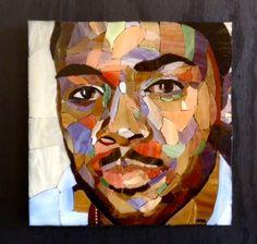 Incredible mosaic portrait!