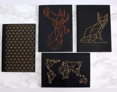 A tutorial on how to make an embroidered notebook. Great for gifts, going back to school or university, or satisfying your stationery addiction. It's super easy!Check it out at http://www.urbanfoxdiy.com/2014/12/diy-geometric-embroidered-notebook.html