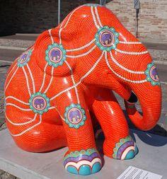 Title: Corridors Artist: Turdsak Piromkraipak Location: Langeliniekaj African Forest Elephant, Asian Elephant, Elephant Stuff, Elephas Maximus, City Events, Elephant Parade, Animal Paintings, Mammals, Painted Elephants