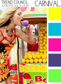 Summer 2014 Color Trend:  High Summer Colour Palettes 2014 - Carnival. Trend Council.