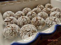 CHOCOLATE CRINKLES-popraskané,vrásčité sušenky