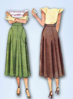 1940s Charming Skirt Pattern Unused 1947 McCall Sewing Pattern Sz 26 W | eBay