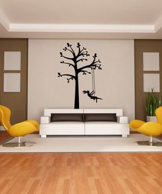Vinyl Wall Decal Sticker Tree Swing #OS_MG449 | Stickerbrand wall art decals, wall graphics and wall murals.