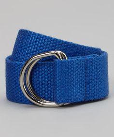 Kids Boys Girls Royal Blue D ring Webbing Belt
