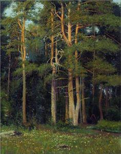 Pine forest in Ligovo - Ivan Shishkin