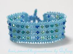 Pattern bijoux: Bracciale Herringbone # 1