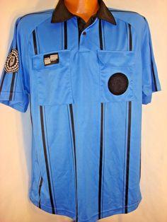 99f3be8a Official Sports International Men's M Soccer Referee Shirt Jersey Blue  Black #OfficialSports #Jerseys Soccer