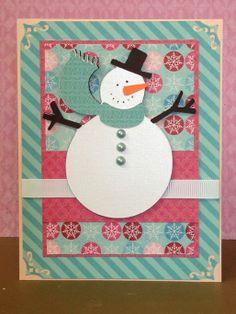 Cricut Christmas Cheer Snowman Winter Card