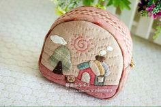 Japanese Patchwork, Japanese Bag, Patchwork Bags, Quilted Bag, Bag Quilt, Quilting, Handmade Purses, Coin Bag, Patch Quilt