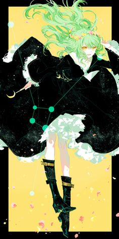 CANCER: Chinese artist Moss re-imagines the 12 Zodiac signs as anime-style schoolgirls in gorgeous illustration series Art And Illustration, Art Manga, Anime Art Girl, Manga Anime, Anime Girls, Anime Kawaii, Fantasy Kunst, Fantasy Art, Zodiac Art