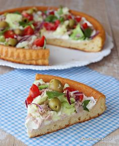 Vegetarian Recipes, Cooking Recipes, Healthy Recipes, Focaccia Recipe, Quiches, Finger Food Appetizers, Food Test, Daily Meals, Antipasto