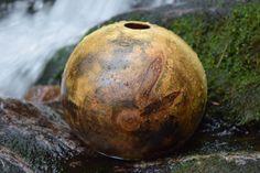 hollow form wood art wood vessel wood form flower by AdzeWoodcraft