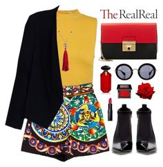 """Jet Set Style With DJ Mia Moretti & The RealReal: Contest Entry"" by elly3 ❤ liked on Polyvore featuring Miu Miu, Dolce&Gabbana, Chanel, Alice + Olivia, Zara, Milly, Bobbi Brown Cosmetics, Victoria's Secret, Make and contestentry"