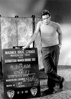 Wardrobe test for Streetcar Named Desire (1951)