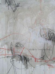 jason craighead - studio floor drawing • march 2008 22w x 30h  •  mixed media on paper