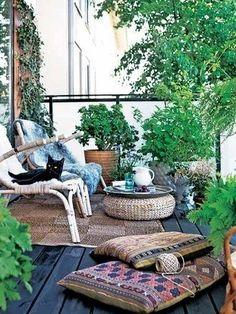 Small Balcony style.. I want balcony like this when I move!