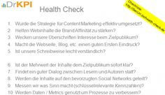 10-Punkte-Health-Check Wie bringe ich meine Seite / Blog auf Vordermann? Engagement Resonanz Dialog Kauf Content Marketing, Blogging, Social Media, Digital, Videos, Health, Writing Styles, Website, Dots