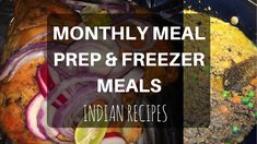 MONTHLY FAMILY MEAL PREP (INDIAN RECIPES) - YouTube
