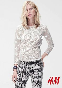 Isabel Marant Iselin Steiro blond messy hair out of bed lace top inspiration trousers