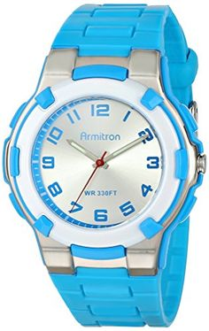 Armitron Sport Unisex 256420BLU EasytoRead Dial Textured Blue Resin Strap Watch >>> Click on the image for additional details.
