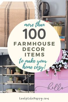 More Than 100 Farmhouse Decor Items to Make Your Home Cozy! Add farmhouse style to your home starting at $2!   #farmhouse #interiordesign