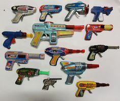 TOY TIN METAL RAY GUN COLLECTION