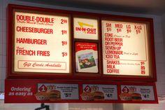 The In-N-Out Burger Menu