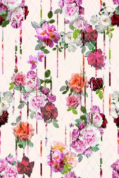 My Bleeding Rose-Floral Prjoect- Camilla Atkins on Behance Textile Prints, Textile Patterns, Flower Patterns, Print Patterns, Textiles, Motif Floral, Floral Design, Print Design, Floral Prints