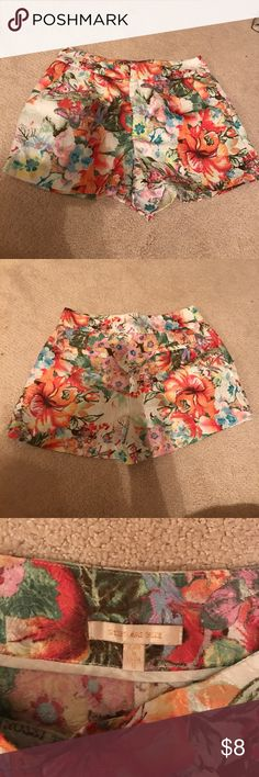 Skies Are Blue floral shorts Skies Are Blue floral shorts in great condition. Size 8 Skies Are Blue Shorts