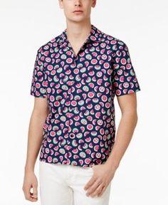 Love Moschino Men's Watermelon Cotton Shirt - Blue XXL