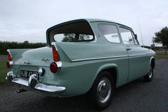 "My Ford Anglia, ours was this colour…""Seaspray"" ! My Ford Anglia, ours was this colour…""Seaspray"" ! Ford Motor Company, Vintage Cars, Antique Cars, Ford Anglia, Cars Uk, Ford Classic Cars, Classic Motors, Ford Escort, E Type"