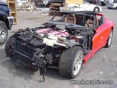 Dodge Viper RT 10 crashed