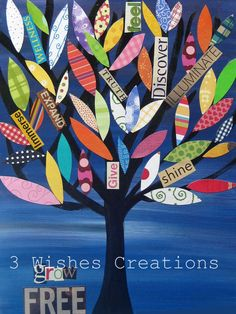 Grow Free Tree 8 x 10 print by 3wishescreations on Etsy