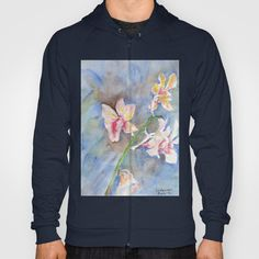 Tropical Orchid Hoody by ellisewalburn Hoody, Orchids, Tropical, Collections, Sweaters, Stuff To Buy, Fashion, Moda, Fashion Styles