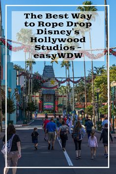 Disney World Tips:  Advice for getting to Disney's Hollywood Studios early  | from easyWDW #DisneysHollywoodStudios #DisneyWorldTips