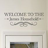 Personalised 'Welcome' Vinyl Wall Sticker