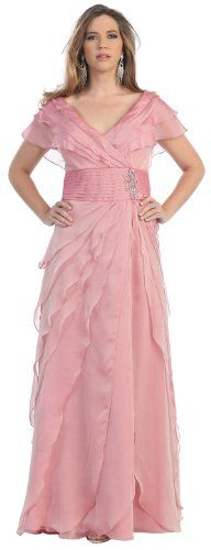 Look! A pink one!  Mother of the Bride Formal Evening Dress #2831 « Clothing Impulse  OH this is me.  Not.  sorry